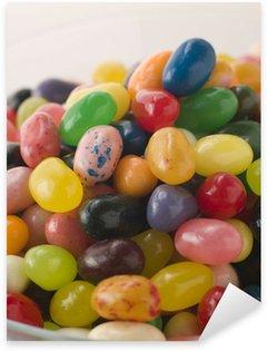 Bowl Of Coloured Jellybeans Sticker - Pixerstick