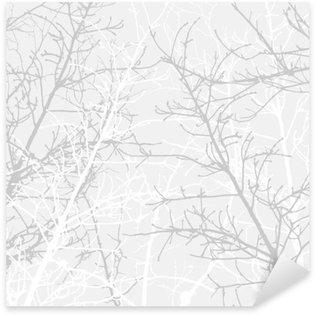 Sticker Pixerstick Branches texture motif. fond souple.