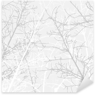 Sticker - Pixerstick Branches texture pattern. Soft background.
