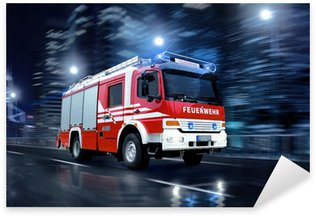 Pixerstick Sticker Brandweerlieden in actie