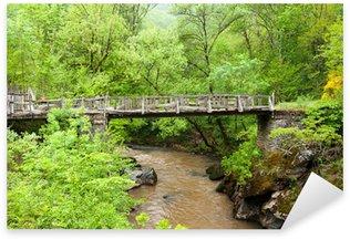Bridge across Dourdou river, Way of St. James Sticker - Pixerstick