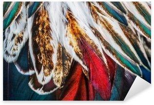 Bright brown feather group of some bird Pixerstick Sticker