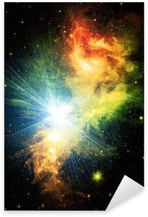 Bright shone stars in the night dark blue sky Sticker - Pixerstick