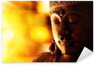 Pixerstick Sticker Bronzen Boeddhabeeld