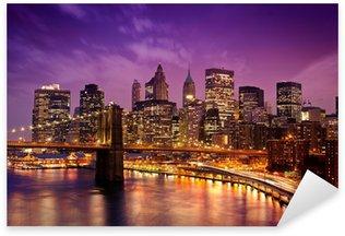 Sticker Pixerstick Brooklyn Bridge surplombant Manhattan