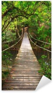 Pixerstick Sticker Brug naar de jungle, Khao Yai National Park, Thailand