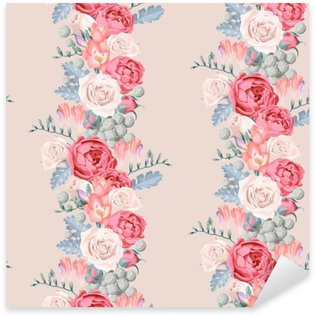 Pixerstick Sticker Bruiloft bloemen naadloos