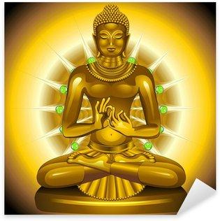 Sticker - Pixerstick Buddha Gold and Emeralds Siddhartha Gautama
