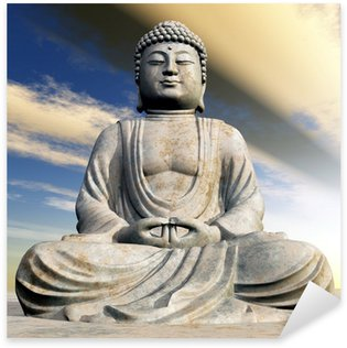 Pixerstick for All Surfaces Buddha Statue bei Sonnenuntergang