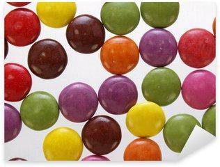 bunte schoko bonbons nah aufnahme Sticker - Pixerstick
