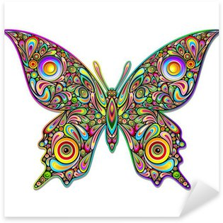 Sticker - Pixerstick Butterfly Psychedelic Art Design-Farfalla Stile Psichedelico