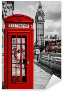 Cabine Téléphone Londres Sticker - Pixerstick