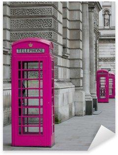 Sticker Pixerstick Cabines Téléphoniques à Londres