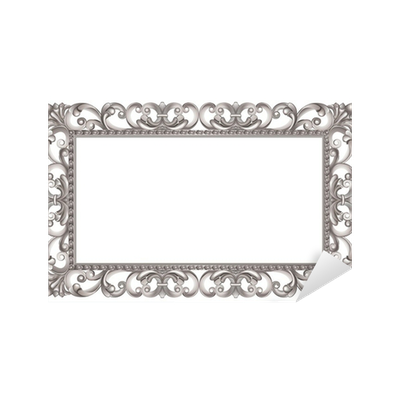 sticker cadre baroque ajour et argent de style italien pixers nous vivons pour changer. Black Bedroom Furniture Sets. Home Design Ideas
