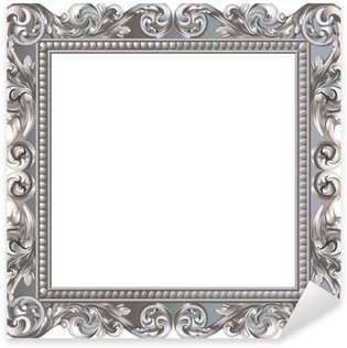 Pixerstick for All Surfaces Cadre baroque carré argenté