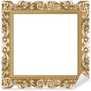 Pixerstick for All Surfaces Cadre baroque carré doré
