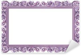 Pixerstick for All Surfaces Cadre baroque rectangulaire violet