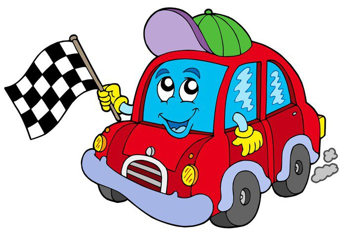 Sticker - Pixerstick Car race starter - On the Road