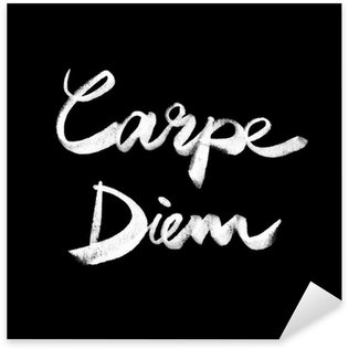 Sticker Pixerstick Carpe Diem. Citation manuscrite