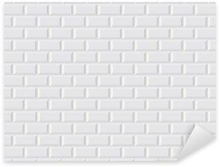 Carrelage blanc metro Sticker - Pixerstick