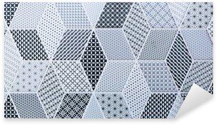 Sticker Pixerstick Carrelage mosaïque abstraite pour mur et sol