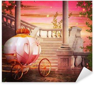 Pixerstick Sticker Carriage Castle Fantasy Backdrop