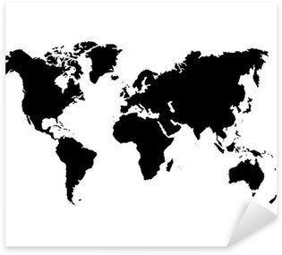 carte du monde Sticker - Pixerstick