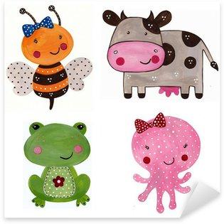 Cartoon characters. Decorative elements Sticker - Pixerstick