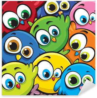 Sticker Pixerstick Cartoon oiseaux