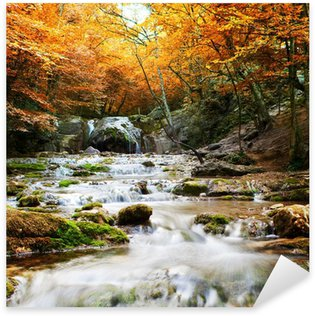 Sticker Pixerstick Cascade d'automne Naturel