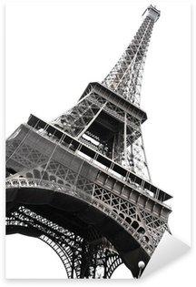 Sticker Pixerstick Célèbre Tour Eiffel de Paris isolé sur blanc