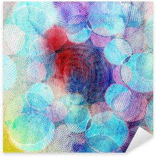 Sticker Pixerstick Cercles de couleur art illustration