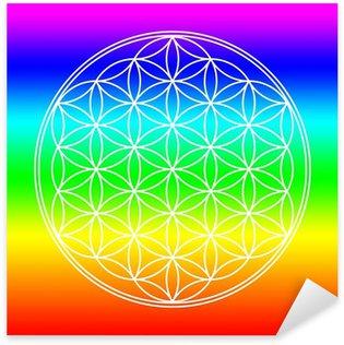 Sticker - Pixerstick Chakra Farben Blume des Lebens 3