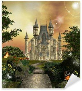 Sticker Pixerstick Château dans un jardin enchanté