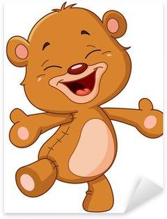 Sticker - Pixerstick Cheerful teddy bear
