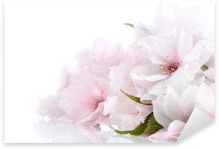 Sticker Pixerstick Cherry blossom frontière avec copie espace