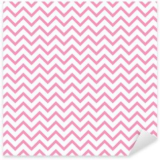Pixerstick Sticker Chevron zigzag zwart en wit naadloze patroon. Vector geometrische zwart-wit gestreepte achtergrond. Zigzag golfpatroon. Chevron monochrome klassieke ornament.