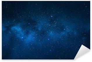 Sticker Pixerstick Ciel de nuit - Univers rempli d'étoiles, nébuleuses et galaxies