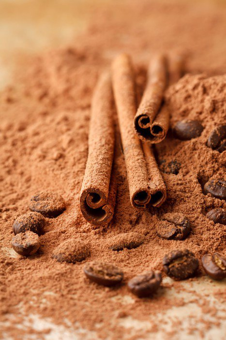 Sticker - Pixerstick Cinnamon Sticks with Cocoa - Spices, Herbs and Condiments