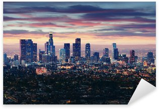 Pixerstick for All Surfaces City of Los Angeles California at sunset with light trails