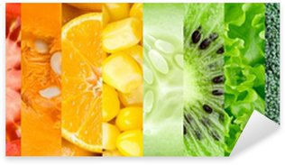Pixerstick for All Surfaces Collection with different fruits and vegetables