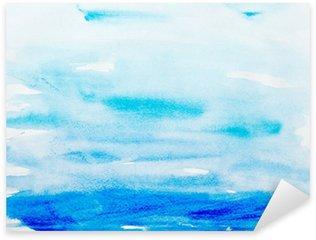 color strokes watercolor painting art Sticker - Pixerstick