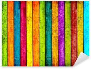Sticker Pixerstick Colorful bois planches de fond
