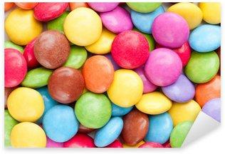 Colorful chocolate smarties Sticker - Pixerstick