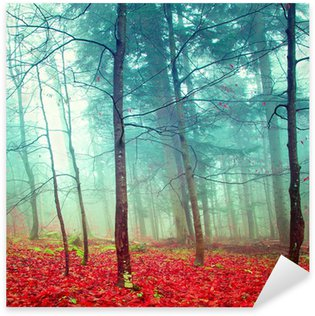 Sticker - Pixerstick Colorful mystic autumn trees