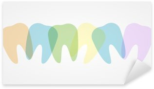 Colorful teeth illustration Pixerstick Sticker