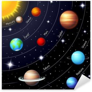 Sticker - Pixerstick Colorful vector solar system