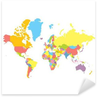 Highly detailed world map with labeling grayscale vector colorfull vector political world map on white background each country colored in different color gumiabroncs Images