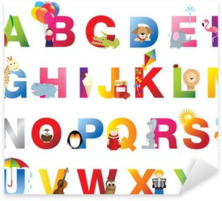 Pixerstick for All Surfaces Complete childrens alphabet