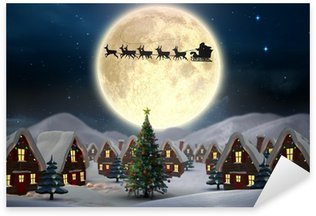 Pixerstick for All Surfaces Composite image of cute christmas village